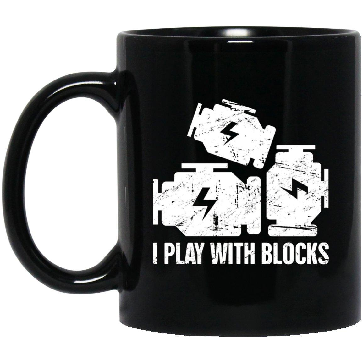 Engine Blocks Clever Mechanic Black  Mug Black Ceramic 11oz Coffee Tea Cup