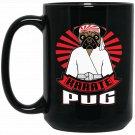 Dog Kickboxing MMA Martial Arts Karate Pug Black  Mug Black Ceramic 11oz Coffee Tea Cup