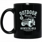 Distressed Outdoor 4x4 Adventure Black  Mug Black Ceramic 11oz Coffee Tea Cup