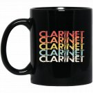 Distressed Colorful Clarinet Black  Mug Black Ceramic 11oz Coffee Tea Cup