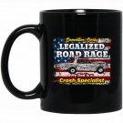Demolition Derby Dad Black  Mug Black Ceramic 11oz Coffee Tea Cup