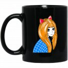 Cute Anime Cat Girl Novelty Black  Mug Black Ceramic 11oz Coffee Tea Cup