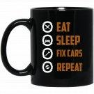 Cool Xmas Gift For Auto Mechanic Dad Christmas Black  Mug Black Ceramic 11oz Coffee Tea Cup