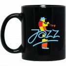 Colorful Jazz Trumpet Musician Black  Mug Black Ceramic 11oz Coffee Tea Cup