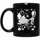 Color Me Swimming Fish DIY Coloring Black  Mug Black Ceramic 11oz Coffee Tea Cup