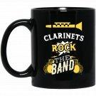 Clarinets Rock the Band Black  Mug Black Ceramic 11oz Coffee Tea Cup