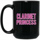 Clarinet Princess - Love Clarinet Musical Instrument Black  Mug Black Ceramic 11oz Coffee Tea Cup