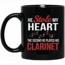 Clarinet Musician Band Orchestra Novelty Graphic Black  Mug Black Ceramic 11oz Coffee Tea Cup
