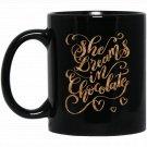 Chocolate Novelty Apparel Black  Mug Black Ceramic 11oz Coffee Tea Cup