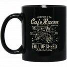 Cafe Racer Motorcycle Black  Mug Black Ceramic 11oz Coffee Tea Cup