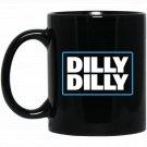 Bud Light Official Dilly Dilly Black  Mug Black Ceramic 11oz Coffee Tea Cup