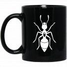 Animal Art 9 Love Farm Animals Black Silhouette Black  Mug Black Ceramic 11oz Coffee Tea Cup