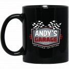 Andys Garage Funny Car Guy My Tools My Rules Black  Mug Black Ceramic 11oz Coffee Tea Cup