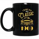 American Muscle Car Guy s Classic 1969 Gift Black  Mug Black Ceramic 11oz Coffee Tea Cup