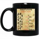 5 Tenants Of Tae Kwon-Do Vintage Black  Mug Black Ceramic 11oz Coffee Tea Cup