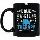 4 Wheeling Therapy Climbing Mountains Outback Sport Black  Mug Black Ceramic 11oz Coffee Tea Cup