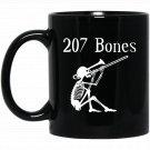 207 Bones for Trombone Players Black  Mug Black Ceramic 11oz Coffee Tea Cup