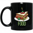 1st 100 Words Food Baby Read Colors Eat Sandwich Black  Mug Black Ceramic 11oz Coffee Tea Cup