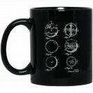 1954 Yoyo Gyroscopic Aerial Top Patent Drawing History Black  Mug Black Ceramic 11oz Coffee Tea Cup