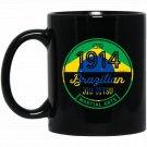 1914 Brazilian Jiu Jitsu for BJJ, Cool Gift, Brazil Black  Mug Black Ceramic 11oz Coffee Tea Cup