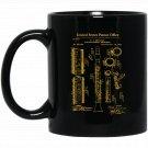 1894 Clarinet Patent Graphic Black  Mug Black Ceramic 11oz Coffee Tea Cup