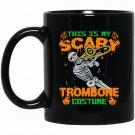 For Trombone. Best Gifts For Men On Halloween Black  Mug Black Ceramic 11oz Coffee Tea Cup