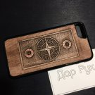 Wood carved case for Apple iPhone 7, iPhone 8, handmade custom phone accessories