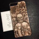 Wood carved case for Apple iPhone 7 Plus, iPhone 8 Plus, 7+, 8+, handmade custom phone accessories