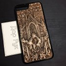 Apple iPhone 7 Plus, iPhone 8 Plus, 7+, 8+ wood carved case, handmade custom phone accessories