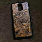 Wood carved case for Samsung Galaxy S4, S5, S6, S7, S8, S9, handmade custom phone accessories