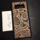 Wood carved case for Samsung Galaxy Note, Note 5, Note 8, handmade custom phone accessories