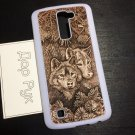 Wood carved case for LG K4, K7, K8, K10, L70, L90, V20, V30, handmade custom phone accessories