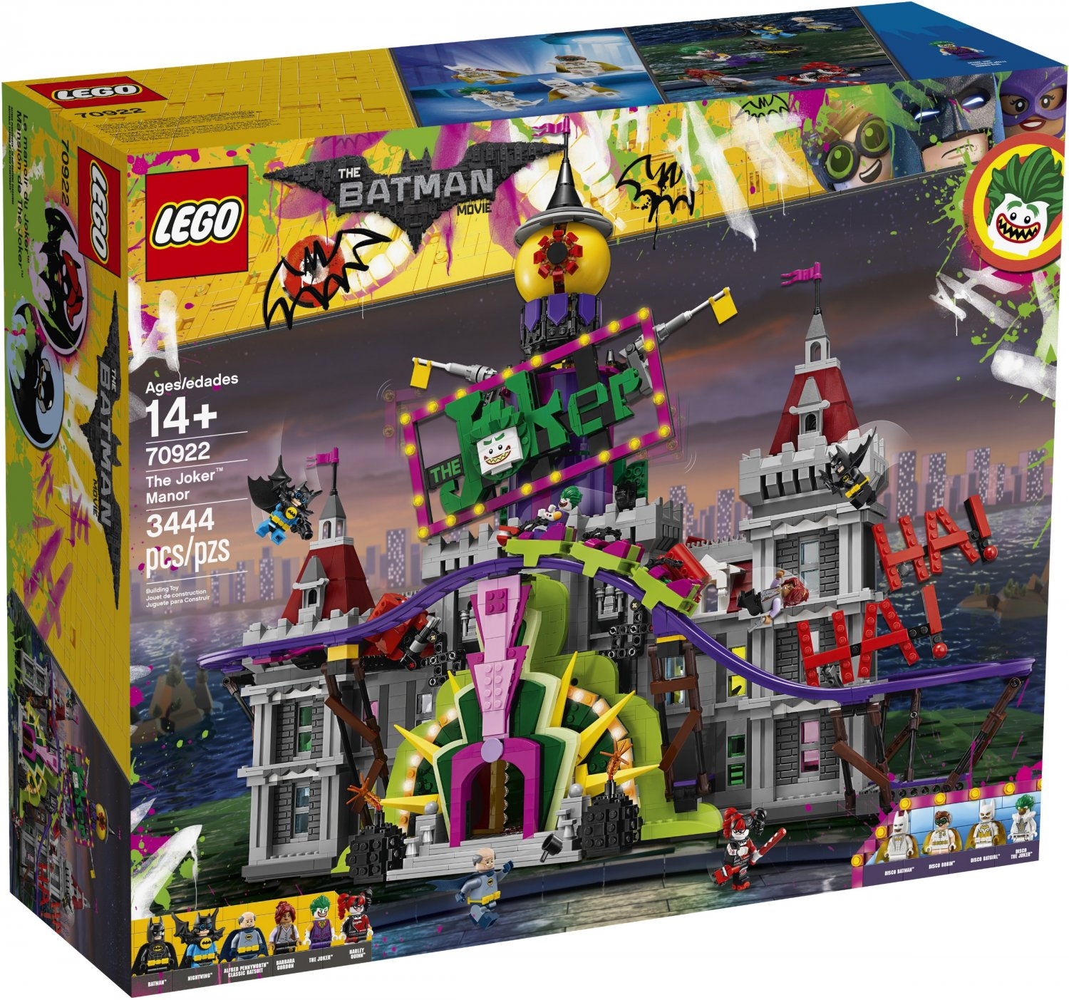 2017 Lego Super Heroes:The Joker Manor 70922