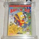 Nintendo NES Simpsons Bart Vs The World WATA 9.4 A+ NEW