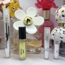 4pc 5mL MARC JACOBS EDT & EDP Travel Sample Mini Spray Atomizer or Roll-On Rollerball Set