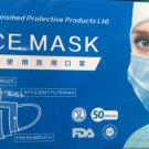 Pack of 100 Disposable 3-Layer Medical Face Masks