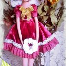 "Collectible textile handmade doll ""Fairy of the pink dreams""."