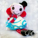 The lovely crocheted doll Lalaloopsy Icicle.