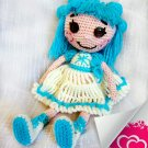 The lovely crocheted doll Lalaloopsy Snowflake.