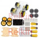 4WD Robot Smart Car Chassis Kits Car With Speed Encoder And Battery Box For Arduino UNO R3 DIY
