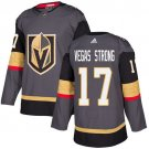 Mens 17# Vegas Strong Vegas Golden Knights Authentic Home Jersey - Gray