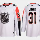 Men's 31# Pacific Division Martin Jones 2018 NHL All-Star White Stitched Jersey