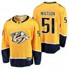 Men's Nashville Predators #51 Austin Watson Gold Stitched Hockey NHL Jersey