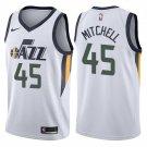 2018 Utah Jazz 45# Donovan Mitchell Basketball Stitched Jerseys White