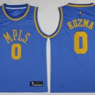 Mens Los Angeles Lakers 0 Kyle Kuzma Blue MPLS Basketball Stitched Jersey