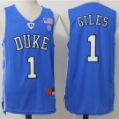 Duke Blue Devils #1 Harry Giles Blue College Basketball Jersey