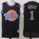 Men's Space Jam Tune Squad Bugs #1 Black Basketball Jersey