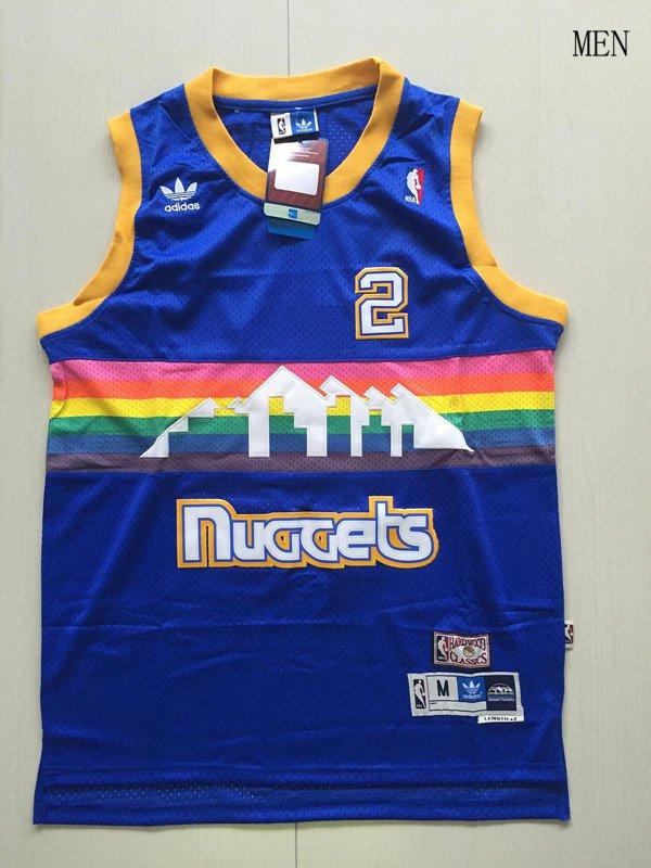Denver Nuggets #2 Alex English Blue Basketball Jersey