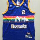 Denver Nuggets #2 Alex English Blue Basketball Jersey