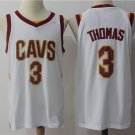 Mens Cleveland Cavaliers 3 Isaiah Thomas Stitiched Basketball Jersey White